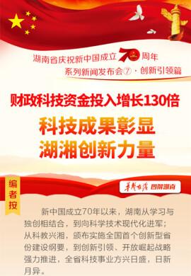 【图解】财政科技资金投入增长130倍科技成果彰显湖湘创新力量