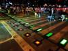 感受一下湖南首条彩光人行横道线
