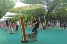 """湖南烈士公园""""新""""健身广场31组新健身器材""""上岗"""""""