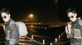 井柏然前往巴黎时装周观秀 机场街拍似杂志大片