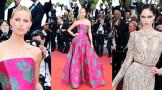 戛纳电影节《好莱坞往事》首映红毯 超模军团来袭