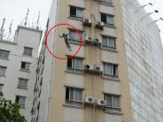 杀人嫌犯跳下高楼被擒