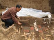 西安财院新校区挖出秦始皇祖母墓穴