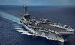 外媒称美航母战斗群高调重返南海 3月份将出访越南