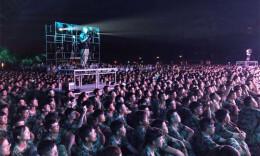 长沙万名大学师生齐唱《我爱你,中国》祝福祖国