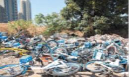 百余輛共享電單車被丟棄,誰干的?