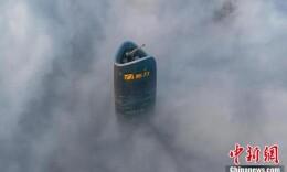 江西南昌現平流霧美景 俯瞰城市宛如仙境
