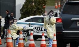 美国新冠病毒感染病例近14万
