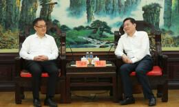 杜家毫许达哲分别与中国建设银行行长刘桂平座谈