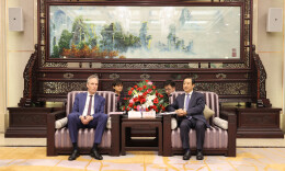 許達哲會見世界銀行中國局局長馬丁·芮澤