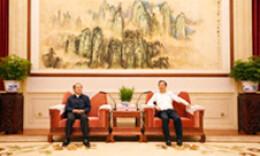 许达哲与王志民一行座谈