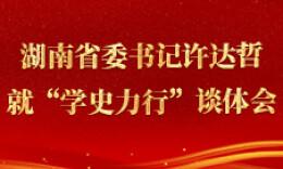 """海报丨湖南省委书记许达哲就""""学史力行""""谈体会"""
