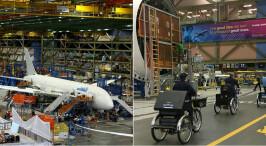 探访西雅图飞机工厂 占地约50个足球场