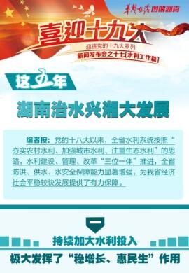 【图解】这五年,湖南治水兴湘大发展