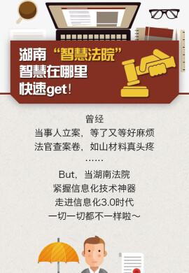 """图解丨湖南""""智慧法院""""智慧在哪里?快速Get!"""