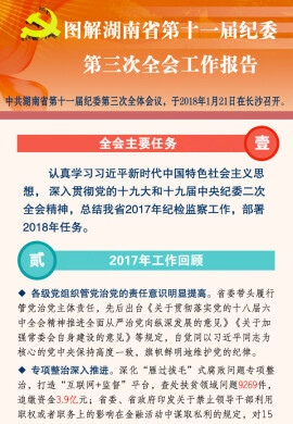 一图读懂湖南省十一届纪委三次全会工作报告