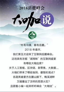 """【图解湖南】干货满满!2018岳麓峰会""""大咖说"""""""