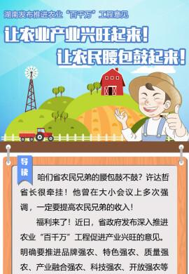 世界杯彩票发布推进农业百千万工程意见 让农民腰包鼓起来!