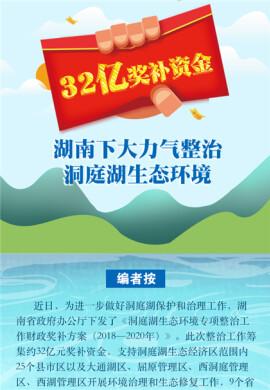 【图解】32亿奖补资金!湖南下大力气整治洞庭湖生态环境
