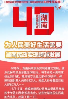 【图解】为人民美好生活需要 湖南民政实现跨越发展