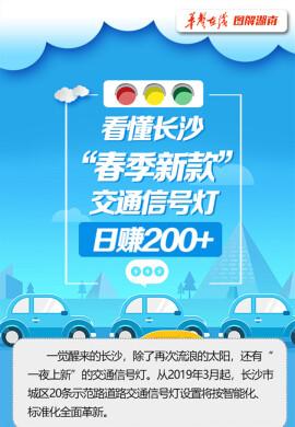 """【图解湖南】看懂长沙""""春季新款""""交通信号灯 日赚200+"""