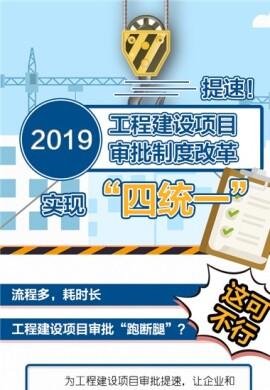 """【图解】提速!2019工程建设项目审批制度改革实现""""四统一"""""""