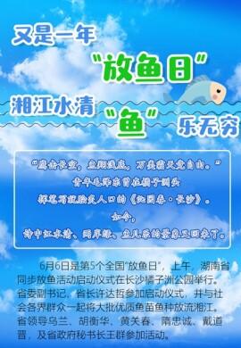 """【图解】又是一年""""放鱼日"""":湘江水清 """"鱼""""乐无穷"""