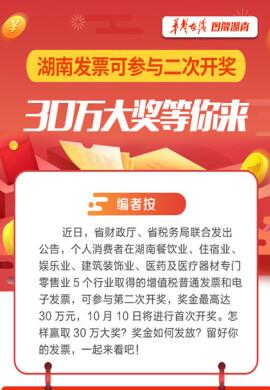 【图解】湖南发票可参与二次开奖 30万大奖等你来