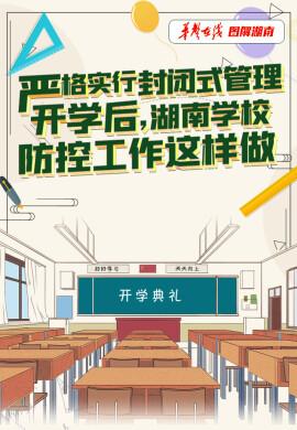 【图解】严格实行封闭式管理 开学后,湖南学校防控工作这样做