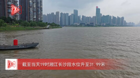 湘江長沙段水位上漲
