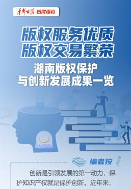 版權服務優質、版權交易繁榮……湖南版權保護與創新發展成果一覽