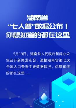 """【海報】湖南省""""七人普""""數據公布!你想知道的都在這里"""