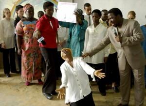 尼日利亚在位于首都拉各斯的多部落犹太教堂里