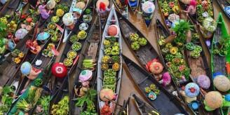 富有烟火气息的印尼水上集市