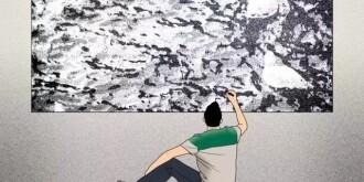 一个画不出直线的画家