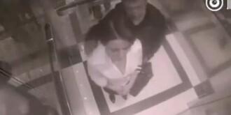 女子电梯遭男子骚扰 仅5秒打倒色狼