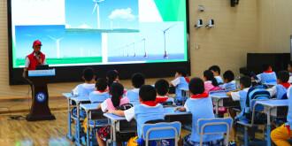 湖南送变电公司  共产党员服务队送安全用电知识到校园