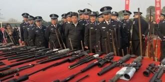 湖南举行收缴整治枪爆物品专项行动战果展示暨集中销毁活动