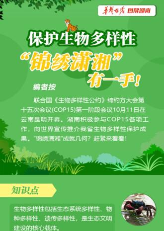 """【圖解(jie)】保護生物多樣性(xing),""""錦繡瀟湘""""有一(yi)手!"""