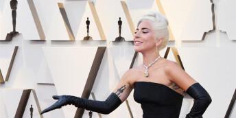 Lady Gaga亮相第91届奥斯卡红毯 黑色礼服致敬经典