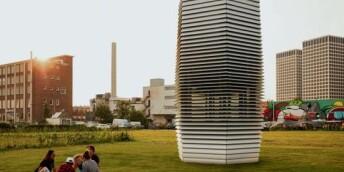 北京雾霾净化塔惹争议 专家称效果不如找布盖工地