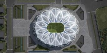 广州恒大足球场造型惊艳亮相,剑指世界足球圣地