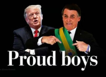 """特朗普会见""""小粉丝""""巴西总统"""