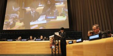 青年歌手王源参加联合国第七届经济与社会理事会青年论坛