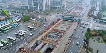 长沙地铁6号线?#28216;?#27573;首个车站主体完工