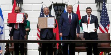 以色列與阿聯酋和巴林在白宮簽署關系正?;瘏f議