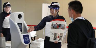 东京奥组委进行防疫和安全检查测试