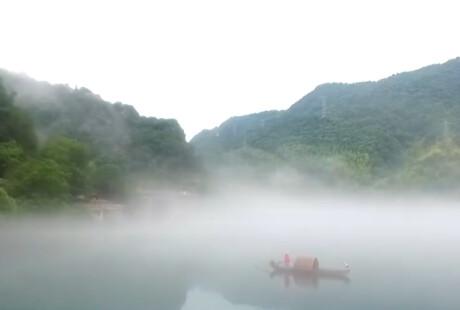 郴州资兴:雨后雾锁小东江