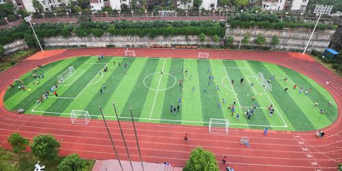 长沙首个获省预算内投资的足球场亮相