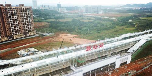 长株潭城轨麓谷站开始设备安装调试